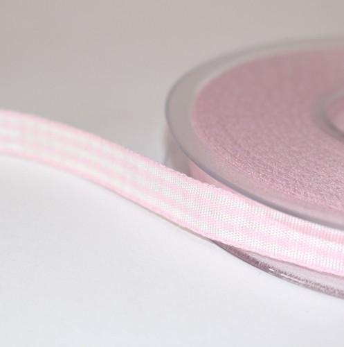 Schleifenband rosa / weiß gestreift