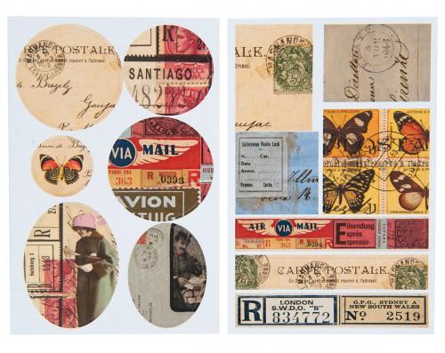 13 Sticker vintage Postale