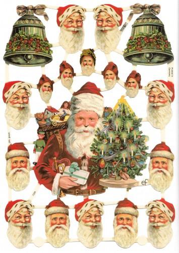 Glanzbilder Weihnachtsmann Nostalgie