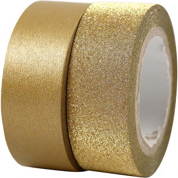 2 x Masking Tape gold / glitzer