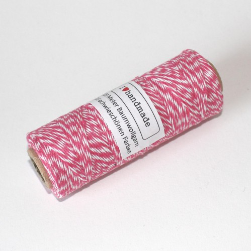 Bakerstwine pink weiss Rolle 100m dünn