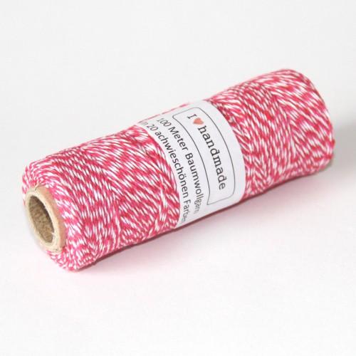 Bakerstwine pink rot weiss Rolle 100m dünn