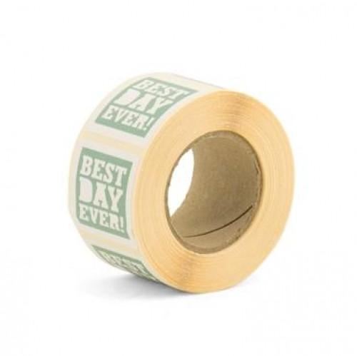 10 Sticker Etiketten BEST DAY EVER mint