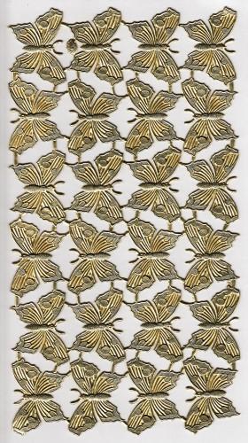 24 goldene Schmetterlinge Papier geprägt