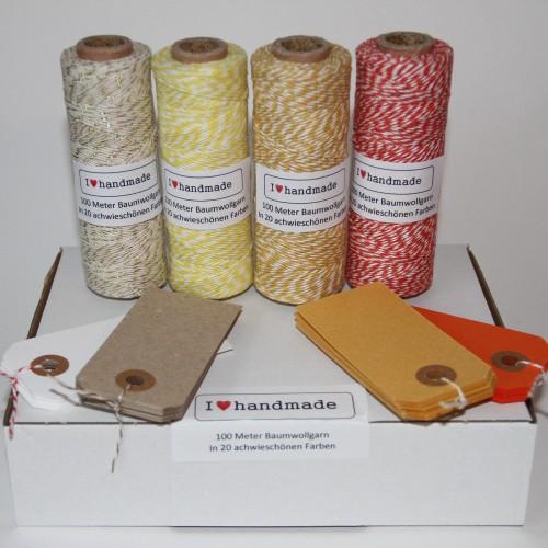 Herbstzeit Set Geschenkverpackung Twine, Paketanhänger