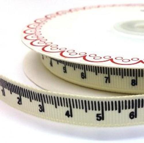 Massband cm-Mass creme Ripsband Meterware