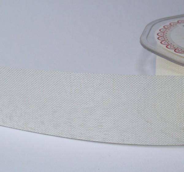 breites Dekoband Leinenoptik Jute 4cm creme