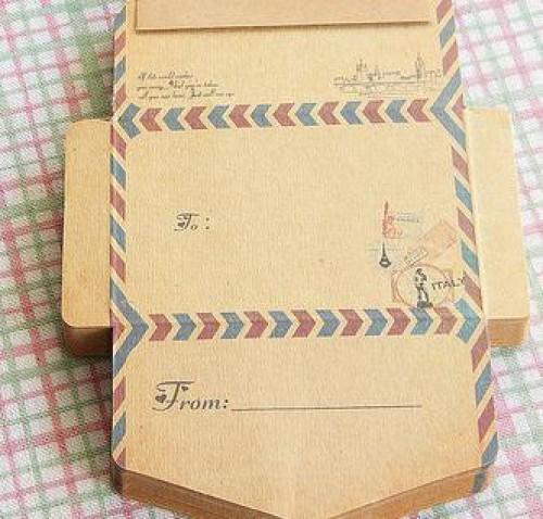 50er Block vintage Kraftpapier Briefumschläge Italy