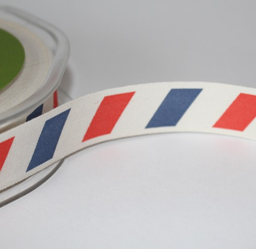 Schleifenband LUFTPOST AIRMAIL vintage