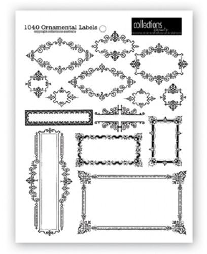 Bogen Ornamental Labels weiss