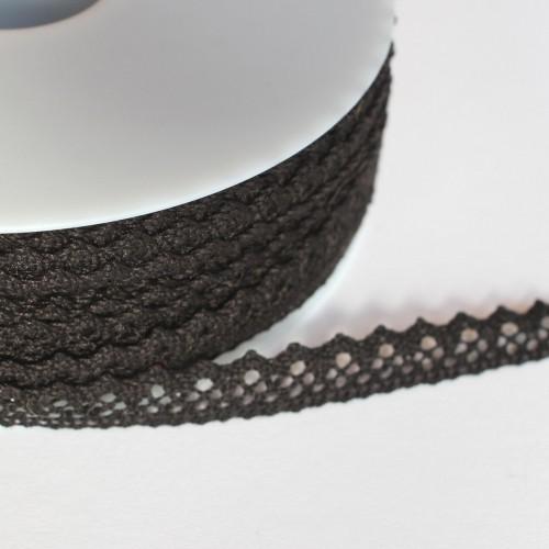Spitzenband schwarz 10mm