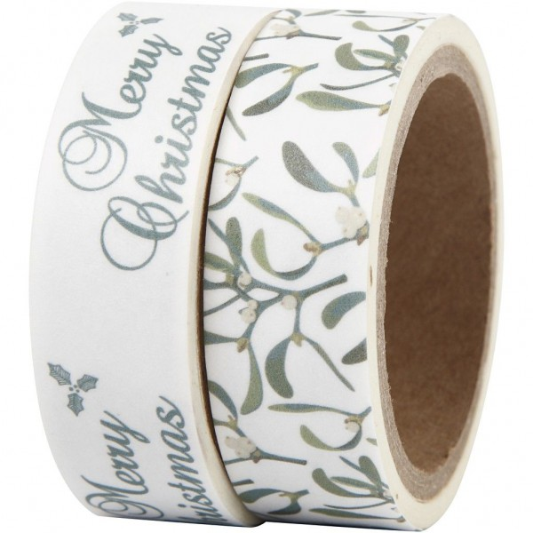 2 x Masking Tape Christmas Mistletoe