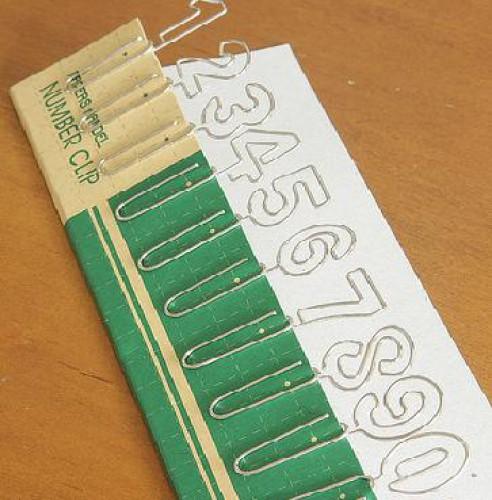 Set Büroklammern Paper Clips Nummern