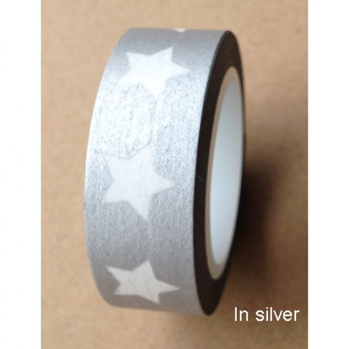 Masking Tape Stern silber