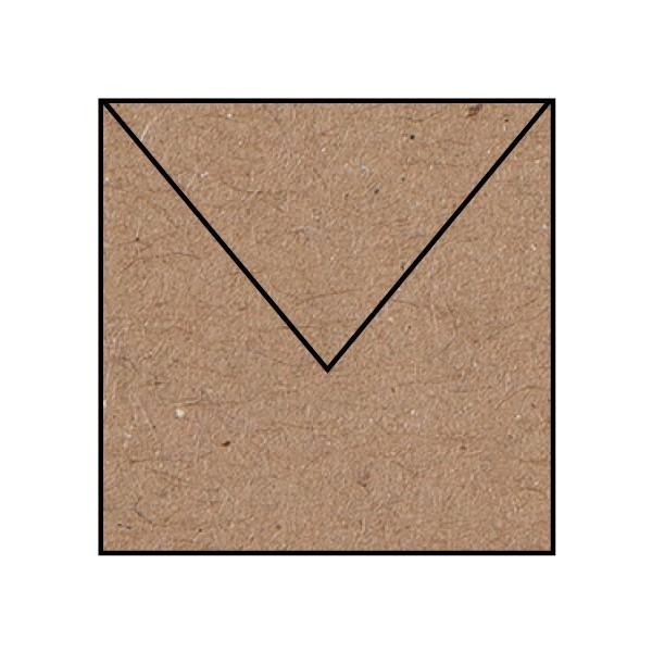 5 Briefumschläge quadratisch Kraft Kuverts