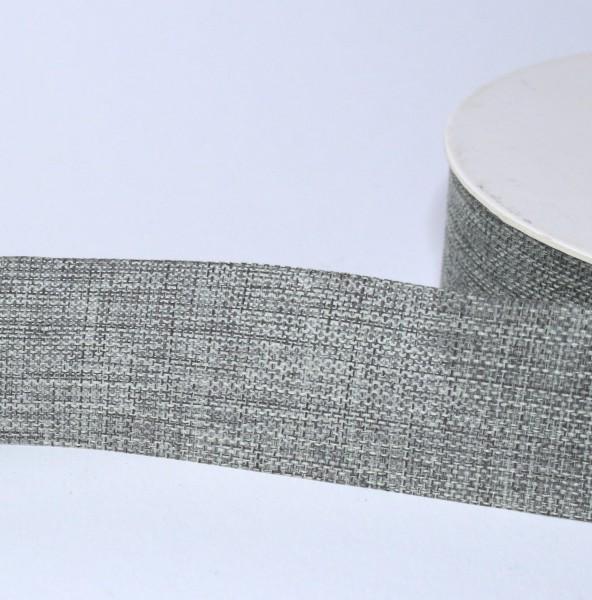 Dekoband Leinenoptik 25mm grau