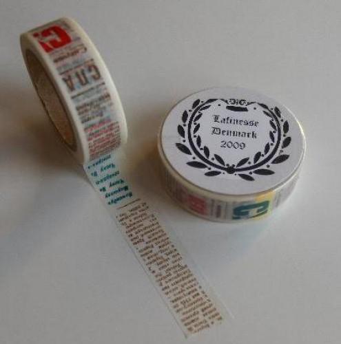 Washi Masking Tape vintage Texte