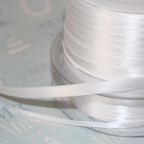 Satinband 3mm weiss