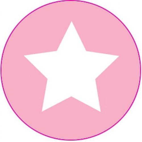 10 Sterne Sticker Etiketten rosa weiss