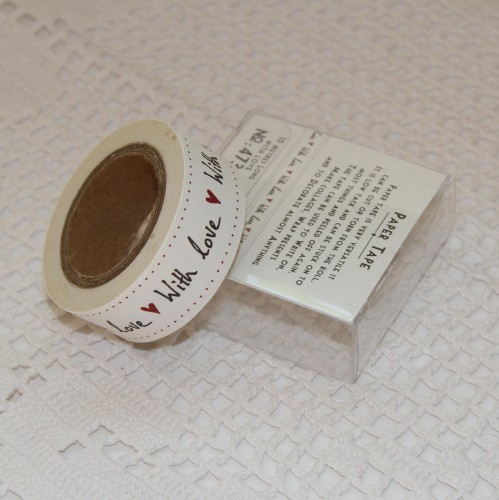 Papier-Klebeband Masking Tape With love