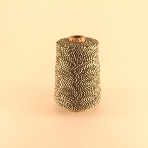 Baumwollgarn Kegel Garn grün / weiss 350m
