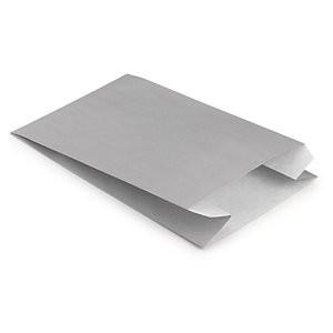 Papierbeutel grau 18x8x25cm Gr. L