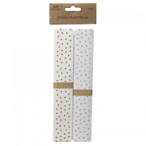 Girlande glitzernde Sternchen 48 Papierstreifen