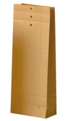 10 Papierbeutel Kraft m. Boden, Falte, Lochung Gr.L