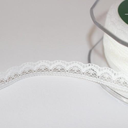 Spitzenband weiss 10mm Nylon