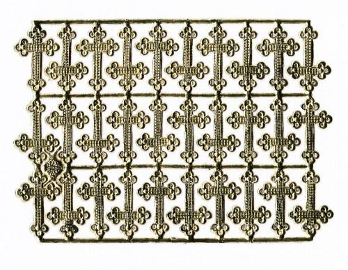 goldene Ornamente kleine Kreuze 30 Stk