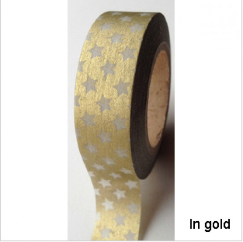 Masking Tape kleine Sterne gold