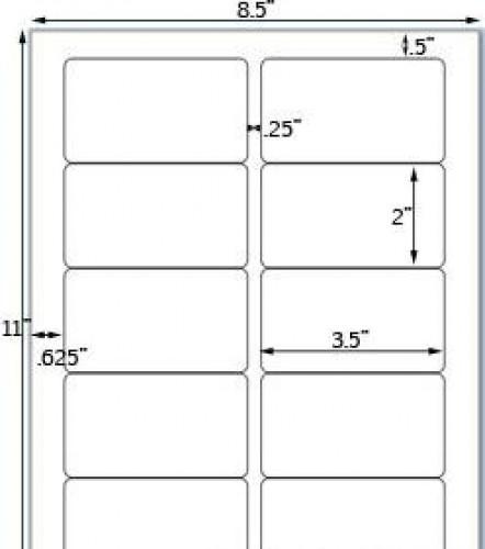 Bogen Kraftpapier braun Label 10Stk rechteckig