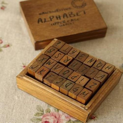 Stempelset Alphabet Gross-Buchstaben Handschrift