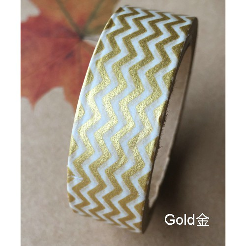 Masking Tape Streifen Zickzack chevron mini metallic gold