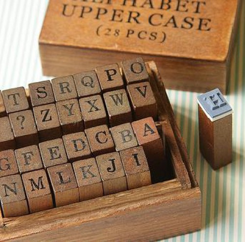 Stempelset Alphabet Grossbuchstaben