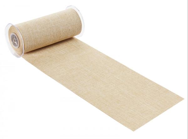 Dekostoff Leinen Jute 20cm breit Tischband natur-Copy