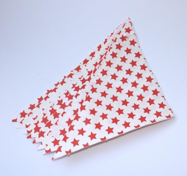 10 Spitztüten rot weiss Sterne Gr. M