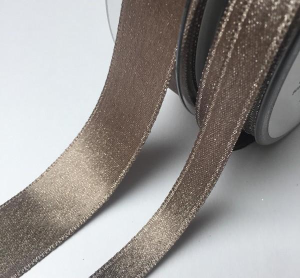 Dekoband braun Glimmer 25mm