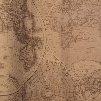 20 Bögen Seidenpapier vintage World Map