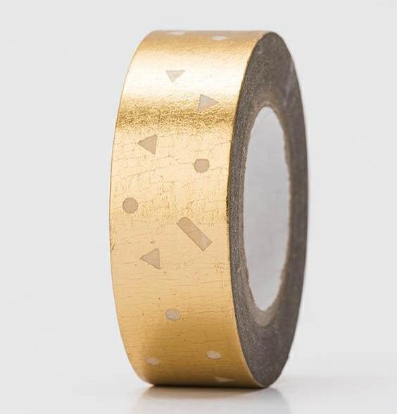 Masking Tape KONFETTI gold Hot Foil