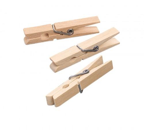 24 Wäscheklammern aus Holz