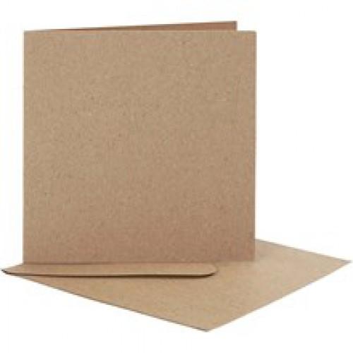 10 Stk. Karten 12,5x12,5cm inkl. Umschläge