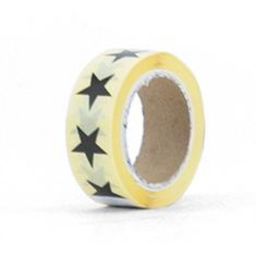 20 mini Stern Sticker schwarz