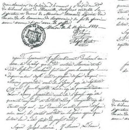 Geschenkpapier vintage Script weiss 3,5 Meter B55cm