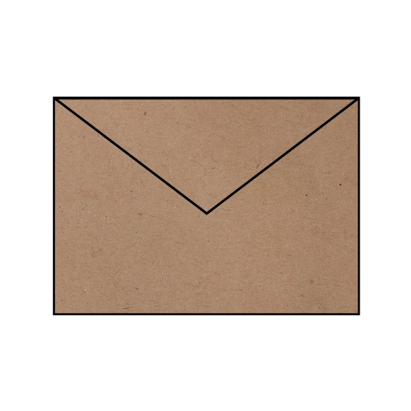 5 Briefumschläge C4 Kraft Kuverts