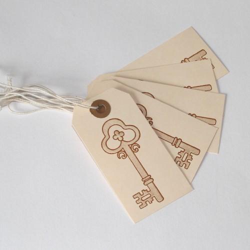 5 Geschenkanhänger vintage Keys 1