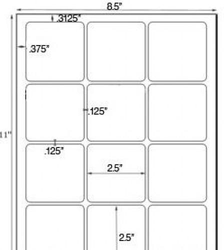 Bogen Kraftpapier braun Label 12 Stk quadratisch