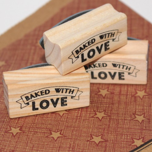 kleiner Stempel BAKED WITH LOVE