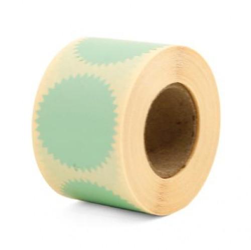 10 runde Sticker Zackenrand mint 50mm