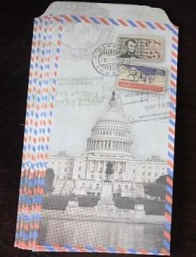 6 Umschläge Kraft vintage Washington US Parlament